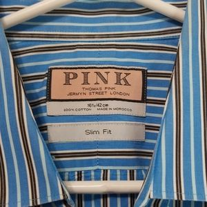 Thomas Pink Slim Fit dress shirt